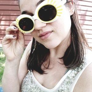 Vintage Retro 60's/70's Yellow Italian Sunglasses